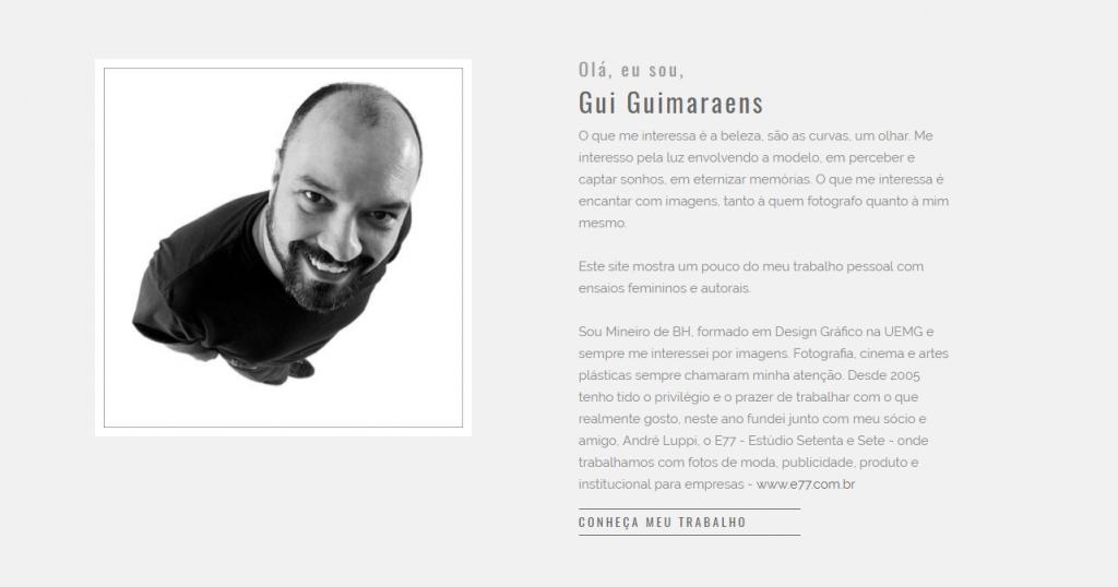 Sobre Gui Guimaraens Fotógrafo especialista em Ensaios Sensuais em Belo Horizonte MG